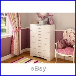 South Shore Step One 5-Drawer Chest, Pure White
