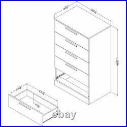South Shore Step One Essential 5 Drawer Chest in Gray Oak
