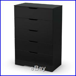 South Shore Trinity 5 Drawer Chest in Pure Black