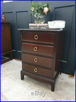 Stag Minstrel Mahogany Bedside Chest Of 4 Drawers TABLE DELIVERY AVAILABLE