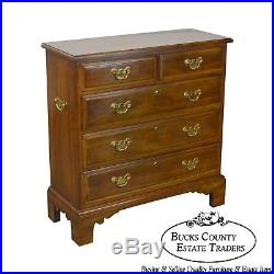 Statton Solid Cherry Chippendale Style Narrow Chest of Drawers