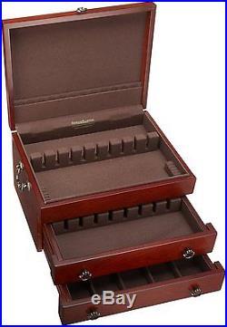 Sterling Silver Flatware Chest Service Dinnerware Storage Box Vintage Drawer Cas