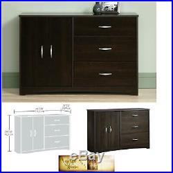Storage Dresser Cabinet 3 Drawer Set Organizer Small Cherry Cin Furniture Chest