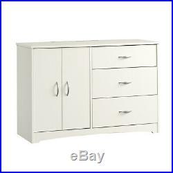 Storage Dresser Cabinet 3 Drawer Set Organizer Small White Furniture Chest NEW