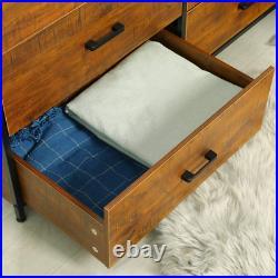 Sturdy Bedroom Hallway Drawer Dresser Storage Chest Organizer 6 Drawer Walnut US