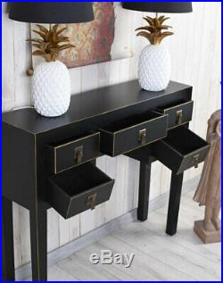 Table Console Side Chinoiserie Jewelry Chest of Drawers Bedside