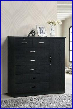 Tall Dresser Bedroom 7 Drawer Storage Organizer Cabinet Chest Furniture
