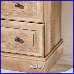 Tall Dresser Chest 4 Drawer Country Farmhouse Rustic Wood Weathered Cabinet