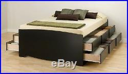 Tall Sonoma Queen Platform Bed Storage Chest Black -NEW