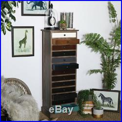 Tallboy tall slim wooden vintage style chest of drawers home furniture storage