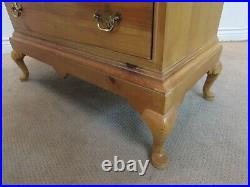 Thomasville Knotty Pine Oversize Bachelor Chest, 4 Drawer Dresser, Hall Console