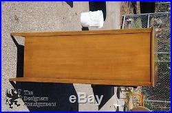 Thomasville Walnut Tallboy Chest of Drawers Dresser Cabinet Mid Century Modern