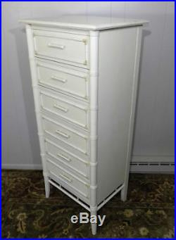 Thomasville faux bamboo lingerie chest of drawers Allegro style with fretwork