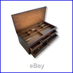 Tiny Watchmakers Chest Box Lift Top Dividers Tray Drawers 8 x 4 x 3