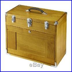 Tool Box Chest 8 Drawer Hard Wood Toolbox Cabinet Storage Mechanic FREE SHIP