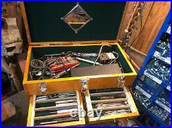 Tool Box Chest 8 Drawer Hard Wood Toolbox Cabinet Storage Mechanic Single Key
