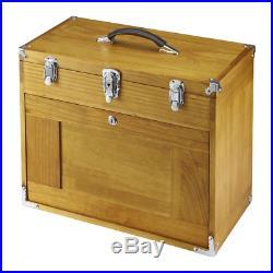 Tool Box Chest 8 Drawer Hard Wood Toolbox Cabinet Storage Mechanic Workshop