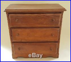 Treen wood vintage Victorian antique apprentice piece chest of drawers box