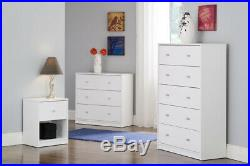 Tvilum Studio Collection 3 Drawer Small Chest Dresser White Wood