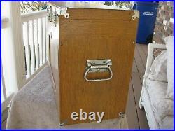 USA Gerstner 072 oak machinist wood tool chest box rare drawer pattern