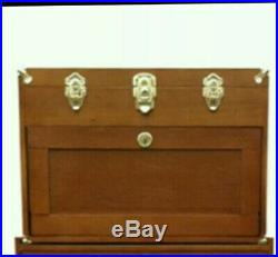 = US Pro Tools Wooden Carpenters Tool Box Tool Chest Wood Cabinet 4 drawer 7321