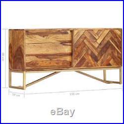 VidaXL Solid Sheesham Wood Sideboard Side Cabinet Chest of Drawer Storage Unit