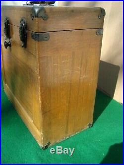 Vintage 1950s Wood 11 Drawers Tool Chest