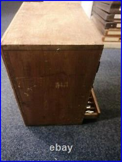 Vintage Adana Letterpress Wooden Drawers Chest (type not included)