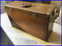 Vintage Antique Machinist WOOD BOX Tool CHEST CASE 11 Drawers GERSTNER & SONS us