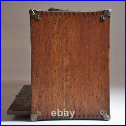 Vintage Antique Machinist WOOD BOX Tool CHEST CASE 8 Drawers