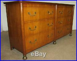 Vintage Baker Dresser, 6 Drawer Low Chest, Regency Style Rare Model