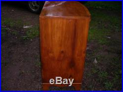 Vintage Baker Furniture Yew Wood 4 Drawer Chest With Sliding Board 34x32x18