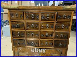 Vintage Chinese Apothecary Chest with 16 Drawers