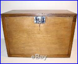 Vintage Engineer's Tool Chest / Collector's Cabinet 8 Drawers Clean 2 Keys