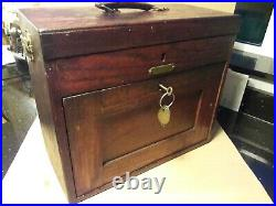 Vintage Engineers 7 Drawer CQR Early hand made box Tool makers Cabinet Chest VGC