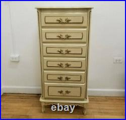 Vintage FRENCH PROVINCIAL LINGERIE CHEST DRESSER Six Drawer Chest