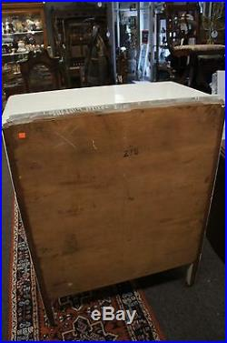 Vintage French Country Dresser 4 Drawer Chest Drawers White Shabby Wood Castors