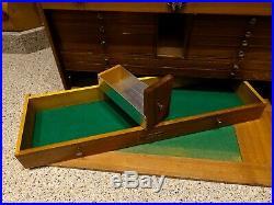 Vintage H Gerstner&Sons Maple Wood Model W52 11 Drawer Machinist Tool Box/Chest