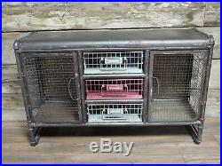 Vintage Industrial Cabinet with Drawers and doors Retro style Storage Chest
