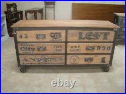 Vintage Industrial style chest drawers