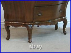 Vintage Italian Made Bombe Chest, Louis XV Style Dresser, Hall Console 3 Drawers