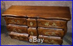 Vintage Nine Drawer French Provincial Bombe' Chest/Credenza/Dresser