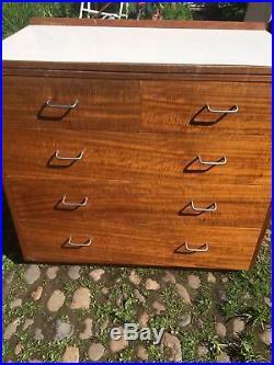 Vintage Original Industrial Teak 1968 Chest Drawers Made By GUS Furniture Ltd