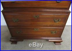 Vintage Pennsylvania House Cherry Chest On Chest, 9 Drawer High Dresser