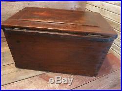 Vintage RARE Drawer Machinist Chest, Tool Box Chest Carpenter Mechanic, Wood Box