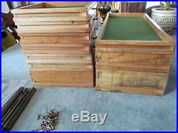 Vintage STAR Quality Chests Machinists Tool Box Wood Drawers withTracks