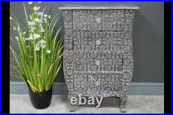 Vintage Shabby Chic Embossed 4 Drawer Chest Of Drawers Statement Piece
