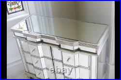 Vintage Shabby Chic Mirrored Chest Of Drawers Statement Piece