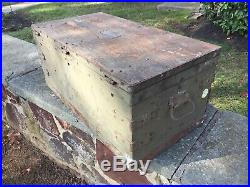Vintage WWII Military Tool Chest with Drawers US Army Signal Corps Wood Tool Box