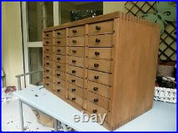 Vintage Watchmakers Cabinet Collectors Drawers Engineers Tool Box Chest Case of